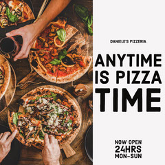 Anytime Pizza Time Instagram Portrait Pizza