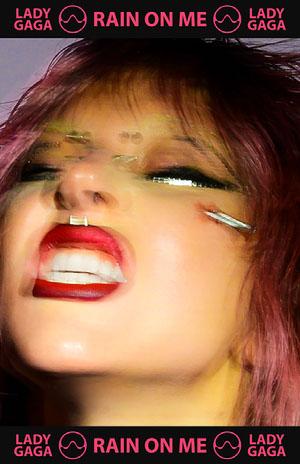 Lady Gaga Rain On Me Poster Pink Flyer