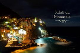 manarola cinque terre Italy postcard  Postcard