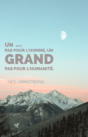 neil armstrong quote poster Affiche