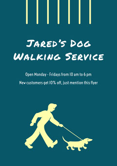 <BR>Jared's Dog Walking Service Dog Flyer