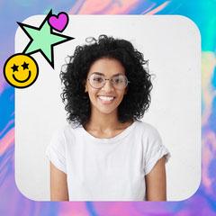 Holographic Sticker Profile Picture Heart