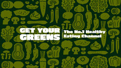 Green Vegetable Pattern Healthy Eating Youtube Channel Art Healthy