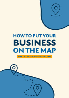 blue yellow cream out your business on the map a4 Guide