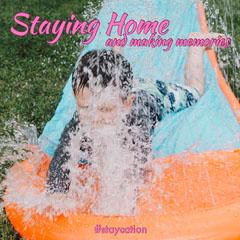 Pink Orange Splash Staycation Memories Instagram Square  Kids