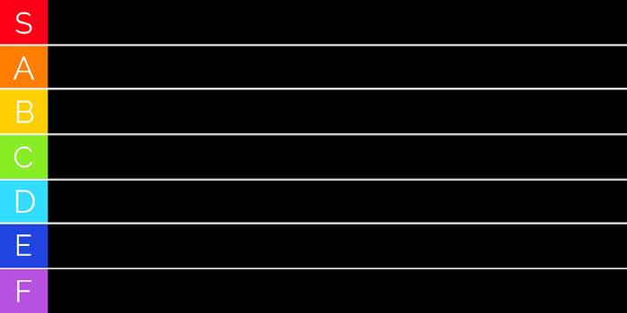 classic black tier list Tier List