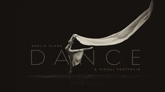 Black White Ballet Dancer Portfolio Cover Widescreen  Dance Flyer