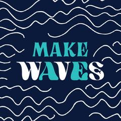 make waves Instagram square  Ocean