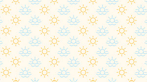 Yellow and Blue Zoom Background Social Post Presentation