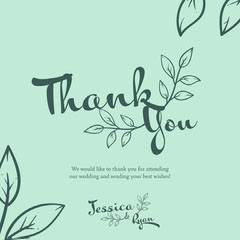 Floral Wedding Thank you Instagram Square Thank You Poster