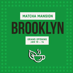 Green and White Matcha Mansion Promotion Grand Opening Flyer