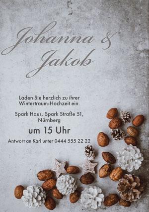 winter wonderland wedding invitations  Einladung zur Party