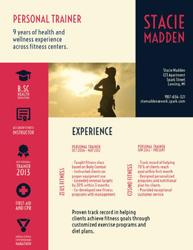 Stacie<BR>Madden Currículum creativo