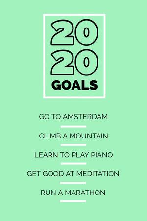Green New Year Goals Pinterest Graphic 버킷리스트