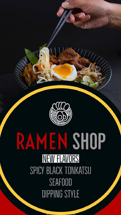 Black With Fresh Dish Restaurant Flyer Instagram Flyer