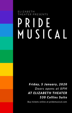 Black and White Pride Musical Flyer Play Poster