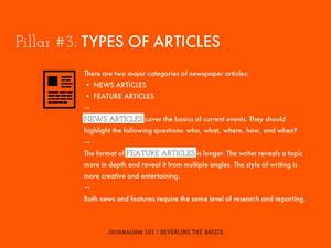Orange Journalism School Presentation Slide Presentation