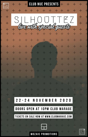 Dark Toned, Patterened, Music Club Event Poster Octavilla de club