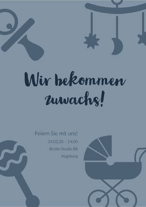 the family is growing baby shower invitations  Einladung zur Babyparty