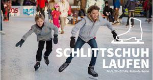 public skating rink banner ads Werbeflyer