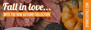 Orange Fashion Autumn Collection Horizontal Ad Banner Ads Banner