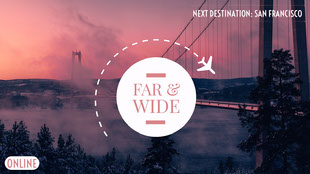 San Francisco Travel Twitch Banner with Bridge at Sunset Tumblr-banner