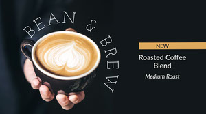 Black Coffee Bean & Brew New Blend Twitter Post Banner de anuncios