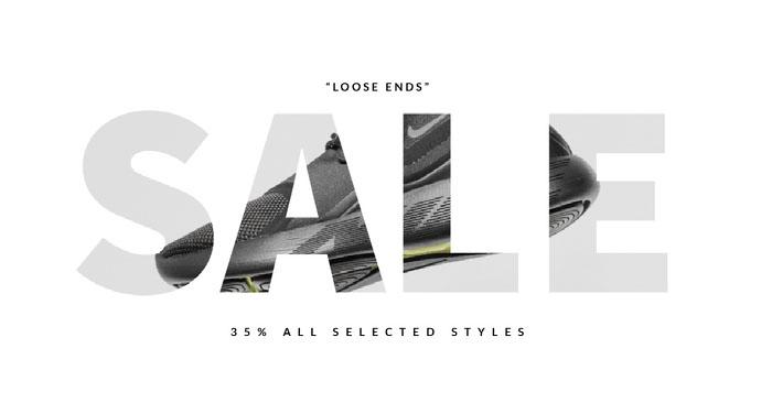 White, Minimalistic Sale Ad Facebook Banner Banner Ideas