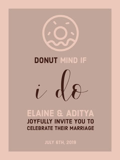 Pink and Brown Celebration Card Donut