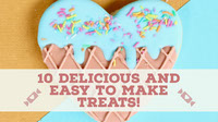 10 Delicious and easy to make treats! Arte de canal do YouTube