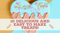 10 Delicious and easy to make treats! Youtube Channel Art
