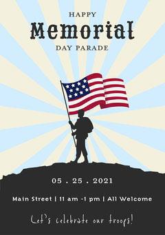 Memorial Day Parade Flyer Memorial Day Flyer