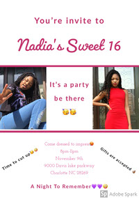 Nadia's Sweet 16  Geburtstag