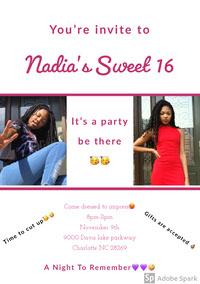 Nadia's Sweet 16  Birthday