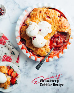 strawberry cobbler recipe instagram portrait Portrait