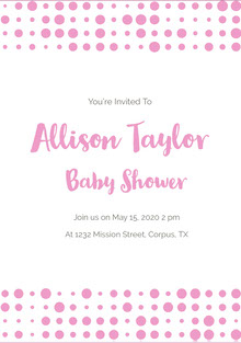 Allison Taylor Invito per baby shower