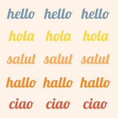 Multicolored Typography Hello Instagram Post Hello