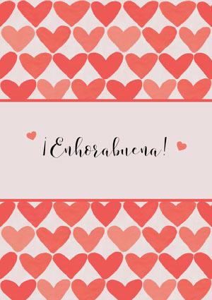 heart patterned congratulations cards  Tarjeta de felicitación