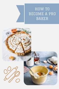 Blue - How To Become a Pro Baker Pinterest Post  Cooking