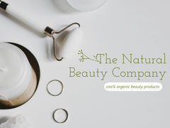 White Natural Beauty Product Store Ad Beauty