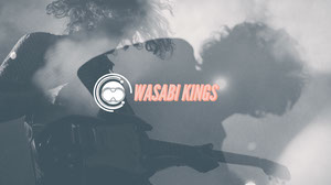 Black and White Wasabi Kings Banner Music Banner