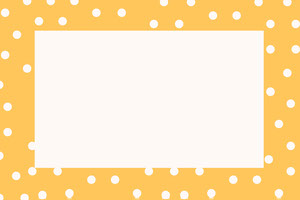 Yellow Polka Dot Name Tag Nimikortti