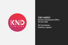 Minimal KND Business Card Business