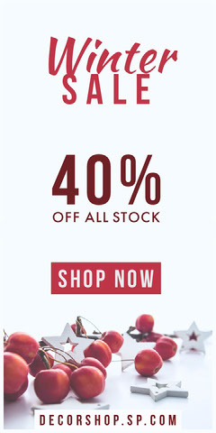 winter sale red decorations webad Promotion