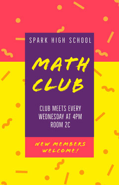 Math Club Welcome Poster