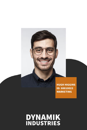 Modern Company ID Card with Photo  Dienstausweis