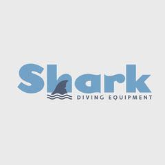 Blue Shark Diving Equipment Logo Water