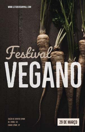 Vegano  Pôster de evento