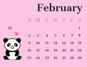 February  Monatskalender