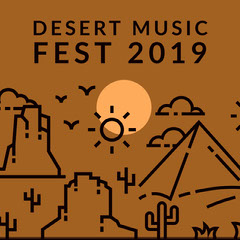 Brown and Black Music Festival Announcement Desert
